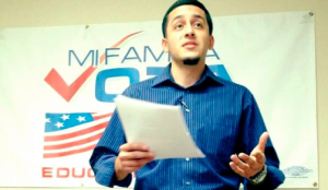 Juan V Lopez speaking at Immigration Reform